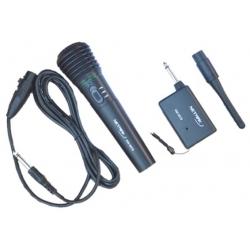 MICROFONO INALAMBRICO ALCANCE 30 a 50Mts Ant./Desmontable - Cable 3Mts - NETMAK
