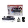 TECLADO ESP. WIRELESS P/SMART TV) MINI TOUCHPAD/GAMEPAD -WHITE - NETMAK