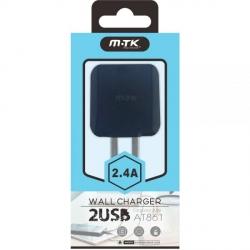 Cargador de Pared AT861 Dual USB