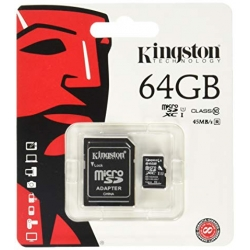 MEMORIA MICRO_SDXC 64GB CLASS 10 C/ADAPTADOR KINGSTON