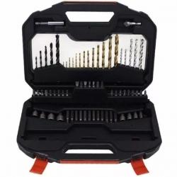Kit Mecha y Puntas p/taladro en maletín A7184XJ AET Black+Decker