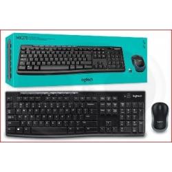 Kit Teclado y Mouse MK270 Wireless Logitech Black