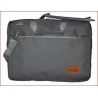 "Maletin Porta Notebook 15"" c/compartimientos Gris MLC-02IT"