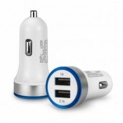 Cargador USB Doble para Automovil con Luz Led 3.1A KILCARKMA-105