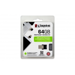 Pen Drive 3.0 DT OTG MicroDuo 64 GB Negro Kingston