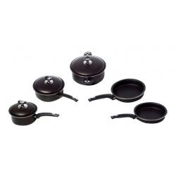 Bateria de Cocina 8 Piezas Elegance Marmicoc - Negro MENBATEN