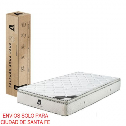 Colchon Resortes con Pillow Top 1 plaza 80x190 cm