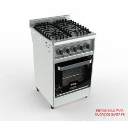 Cocina 4 hornallas 55 cm , pta de vidrio reja de fund liv GN I55VV