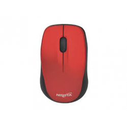 Mouse Optico Wireless 1600dpi Red Nisuta mini NS-MOW37R