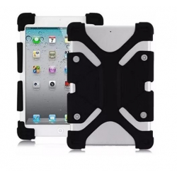 "Funda Protector Silicona Tablet Universal 8.9 a 12"" Negro"