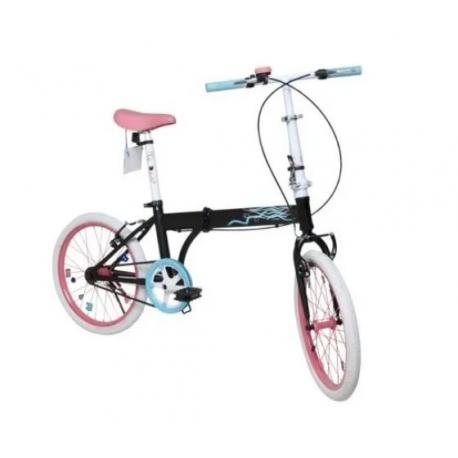 Bicicleta Plegable Rod 20 - Cod 7153 Bia Disney Negro