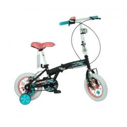 Bicicleta Plegable Rod 12 - Cod 7150 Bia Disney Negro