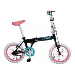 Bicicleta Plegable Rod 16 - Cod 7152 Bia Disney (cuadro adulto)