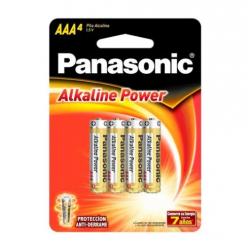 Pila Panasonic Alkaline AAA X4 en Blister PA2014BL192