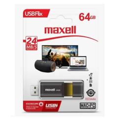 Pen Drive Maxell Flix 64Gb 3.0 Negro/Dorado